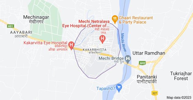 Map of Kakarbhitta, Mechinagar